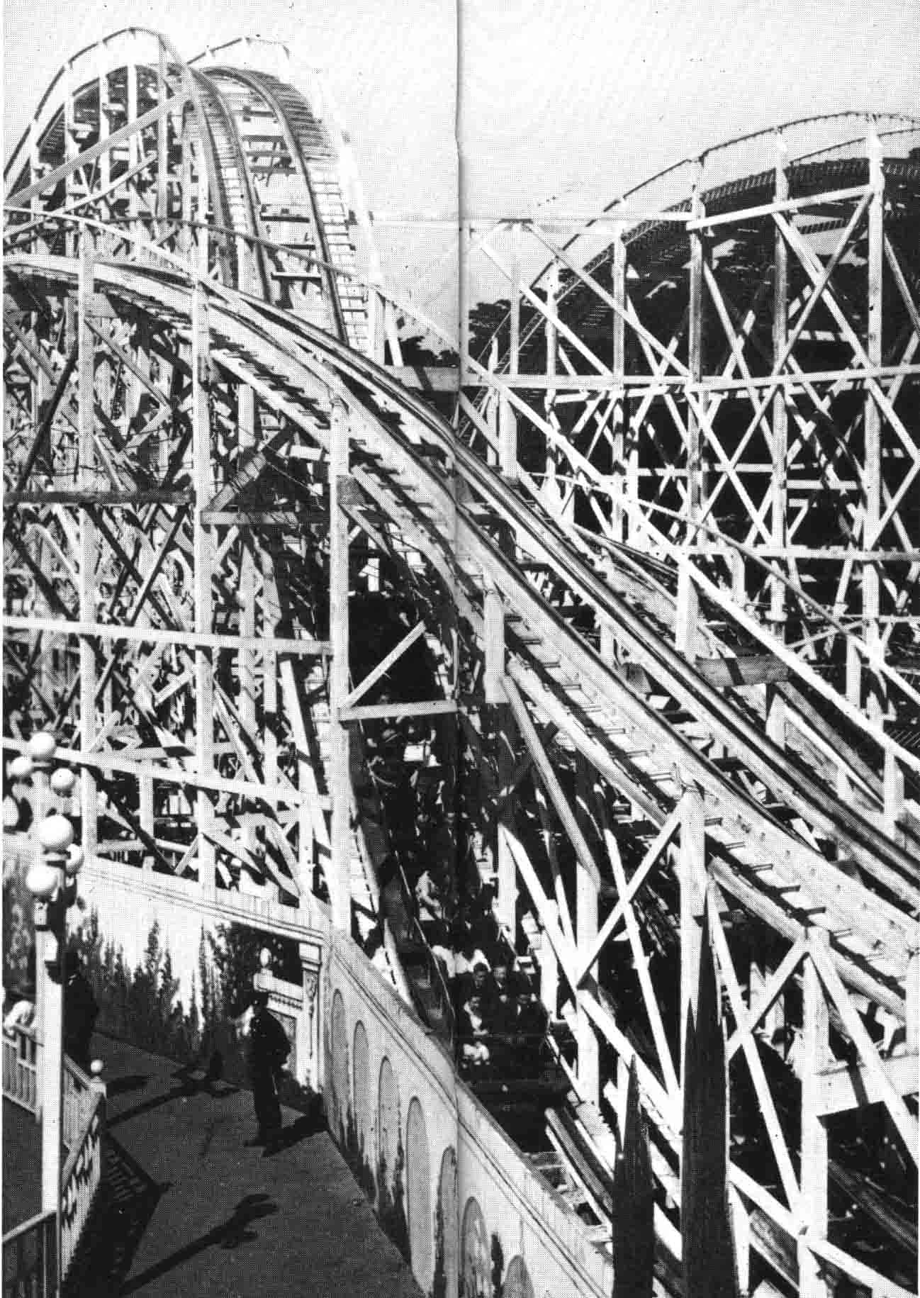 The scenic railway at Luna Park
