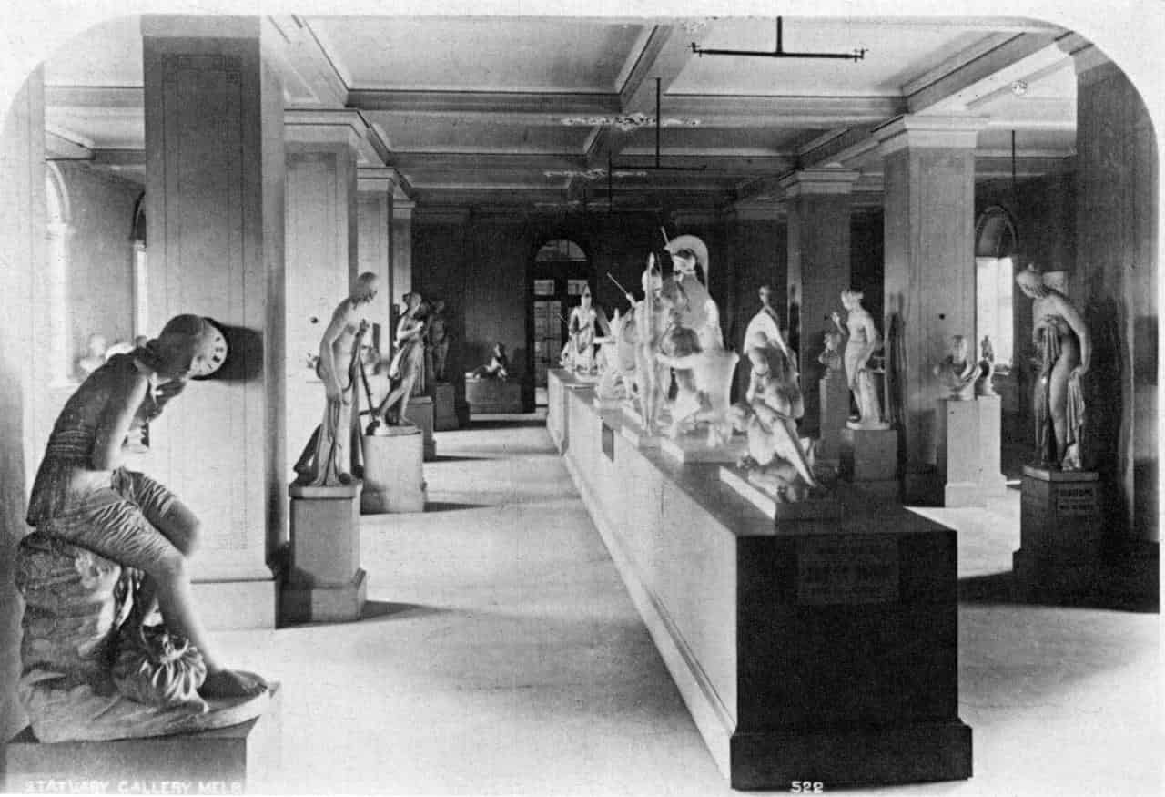 Plaster casts at the Nationa;lGallery of Victoria