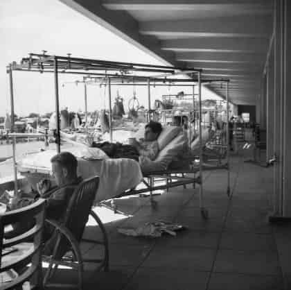 West Wing Balcony, 115th Australian General Hospital, Heidelberg, Victoria in November 1943