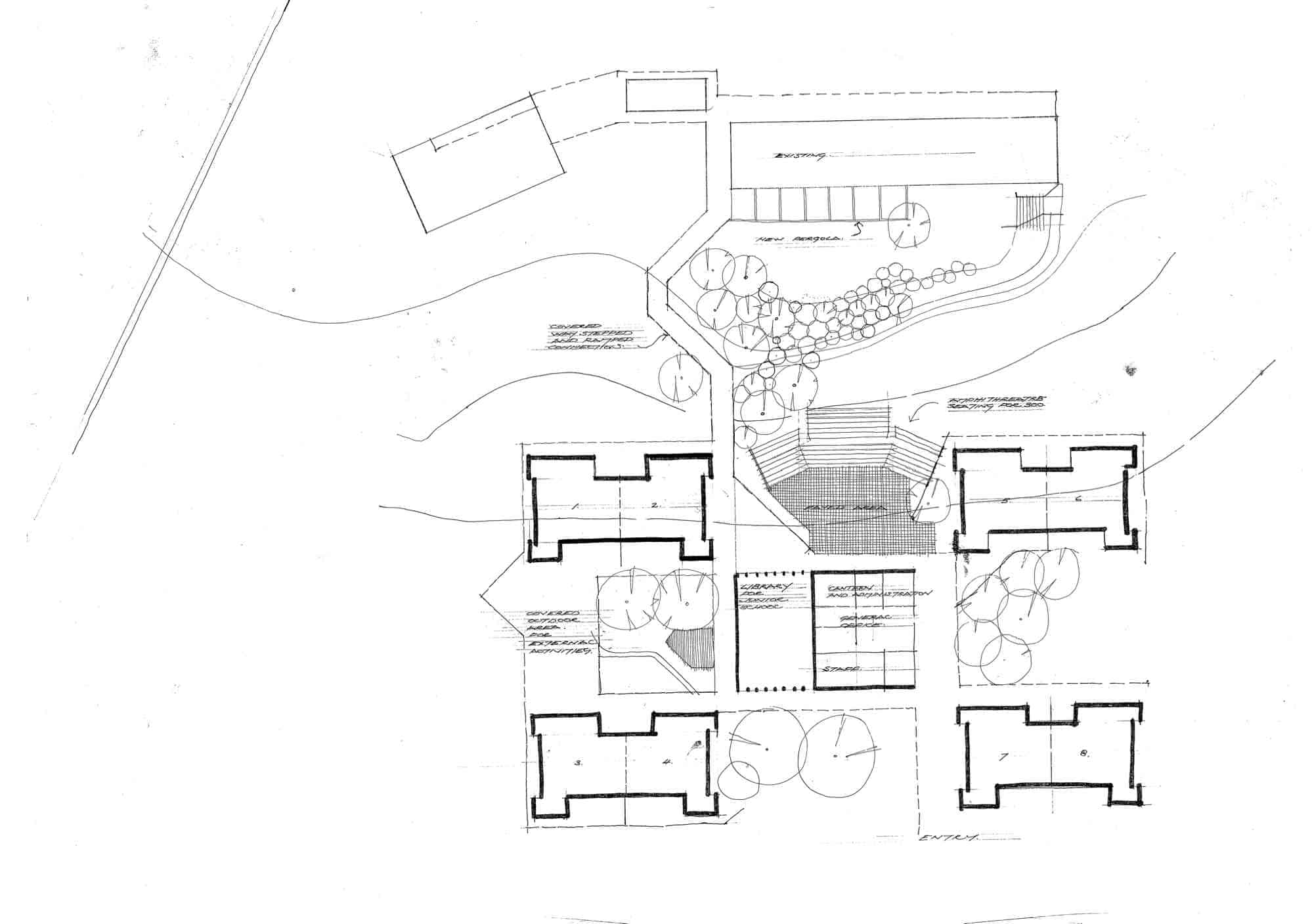Mountain District Parent Controlled Christian School, 5:  site plan showing new buildings