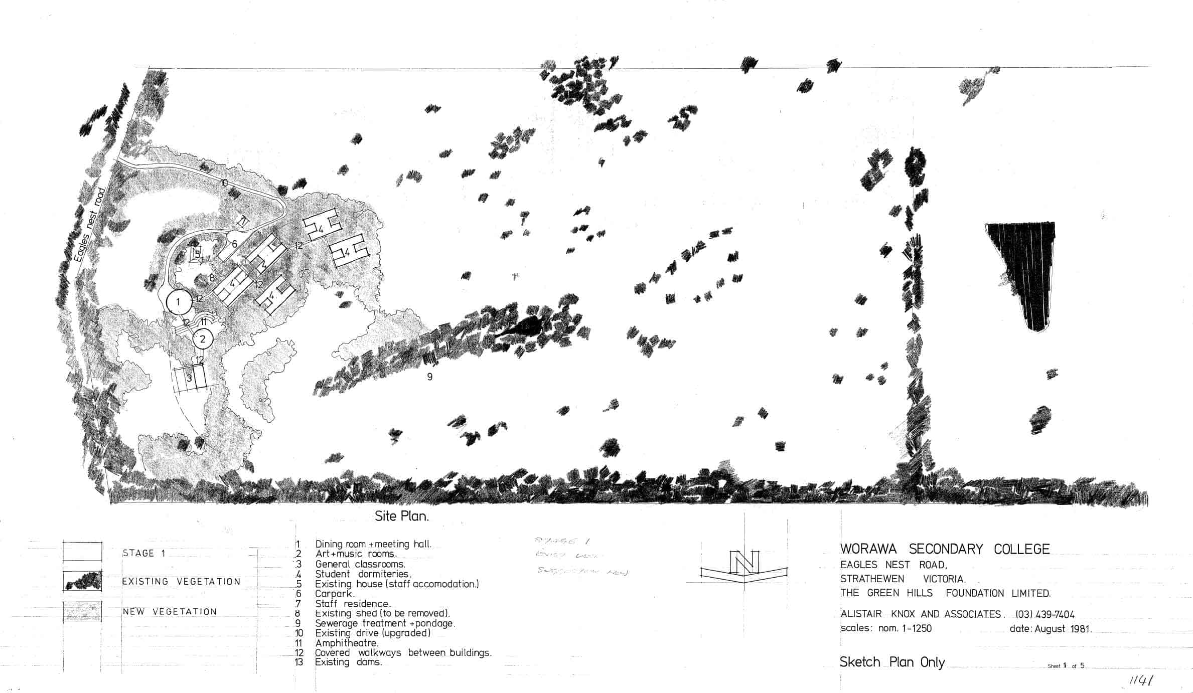 Greenhills Foundation, 2: site plan
