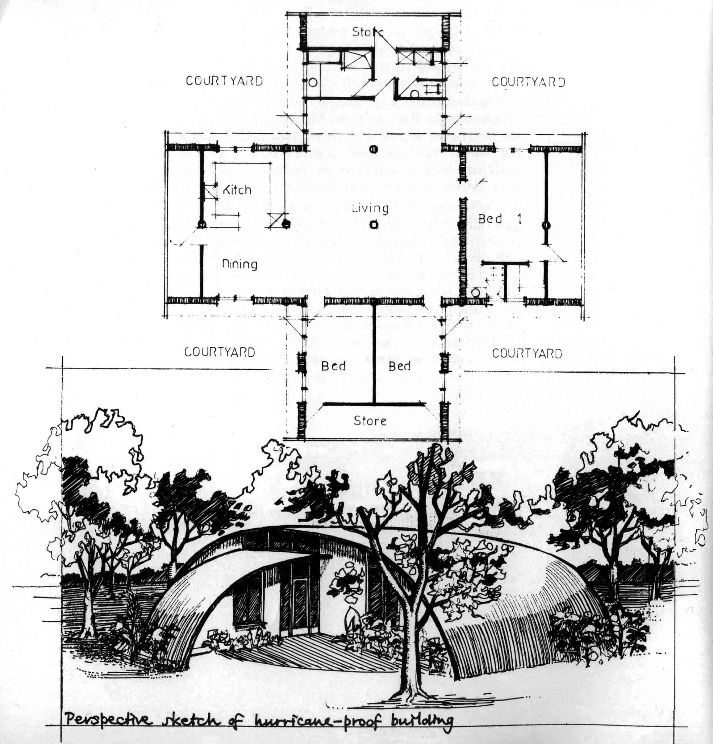 Plan of the Freeman house