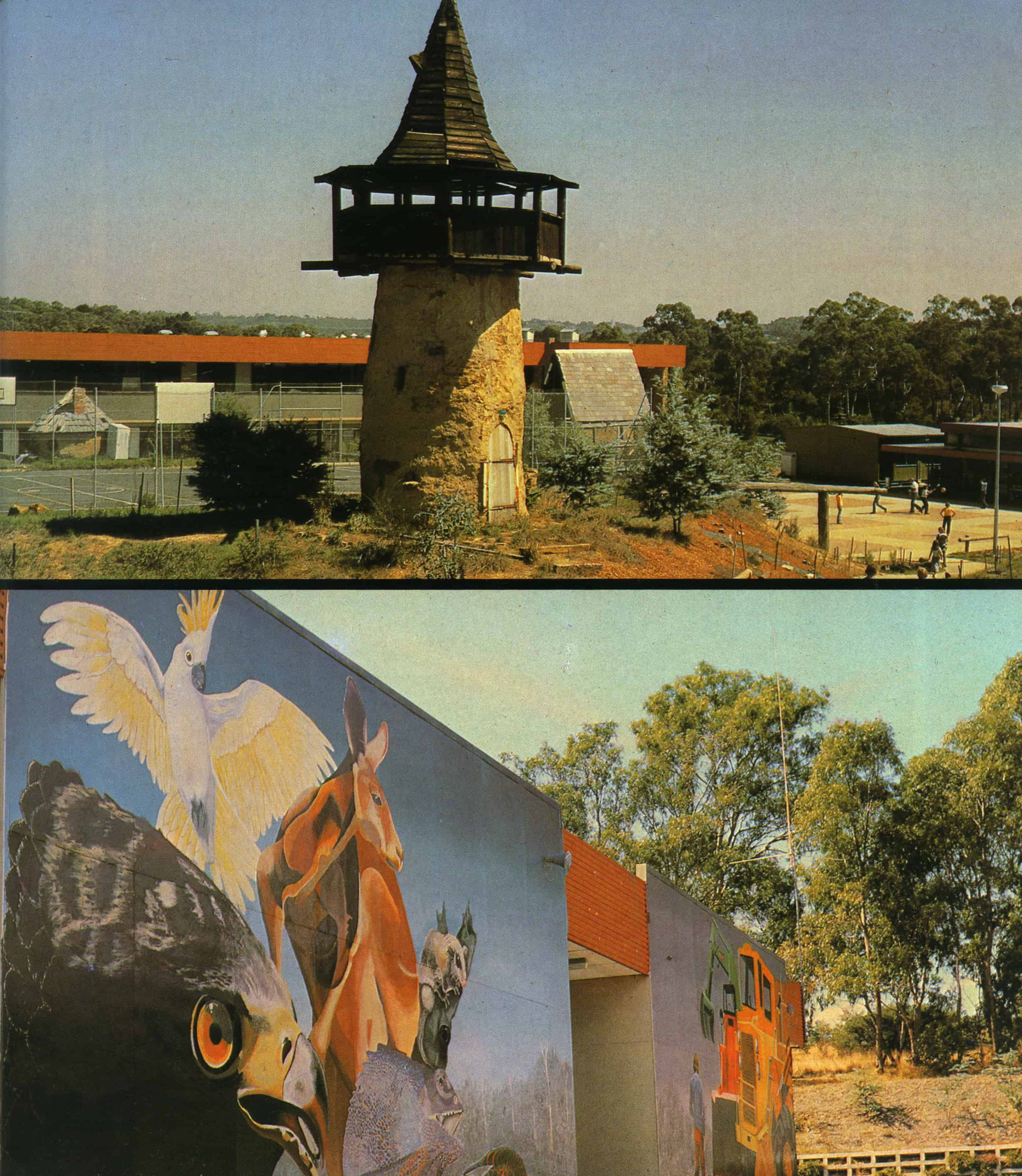 Examples of student building and painting at the Diamond Creek Technical School - inspired by teachers Ross and Sue Grouds