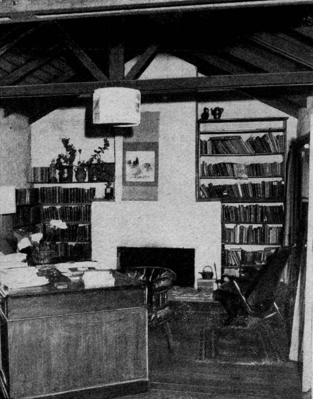 Interior of Professor Macmahon Ball's studio at Eltham