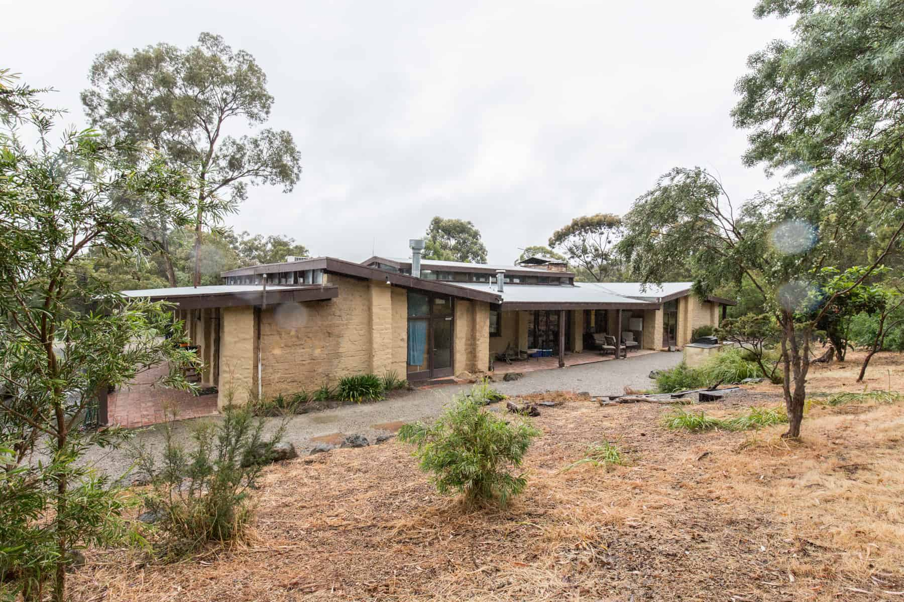 Coller house, 10 Eucalyptus Rd Eltham. VIC 3095. Designed by Alistair Knox, plan dated January 1974, job number 720