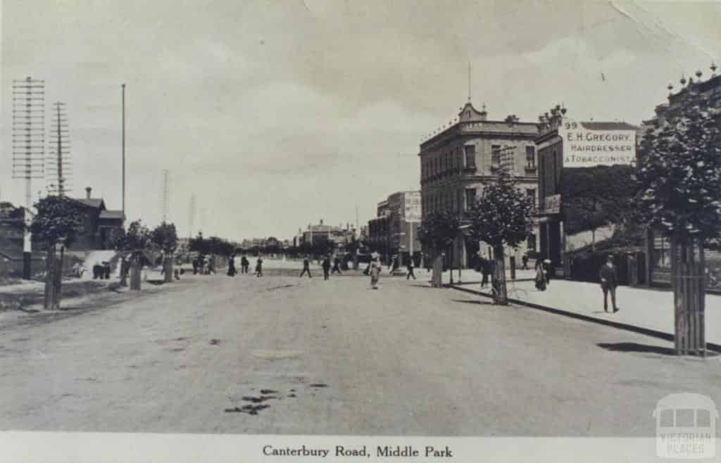 Canterberry Rd Middle Park in 1911