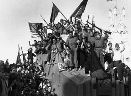 Anarchists and other workers who attempted a social revolution after the military uprising of the right-wing General Francisco Franco in July 1936