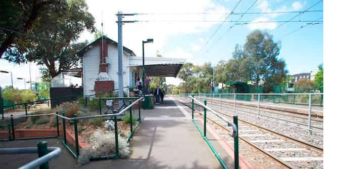 Remains of Albert Park station