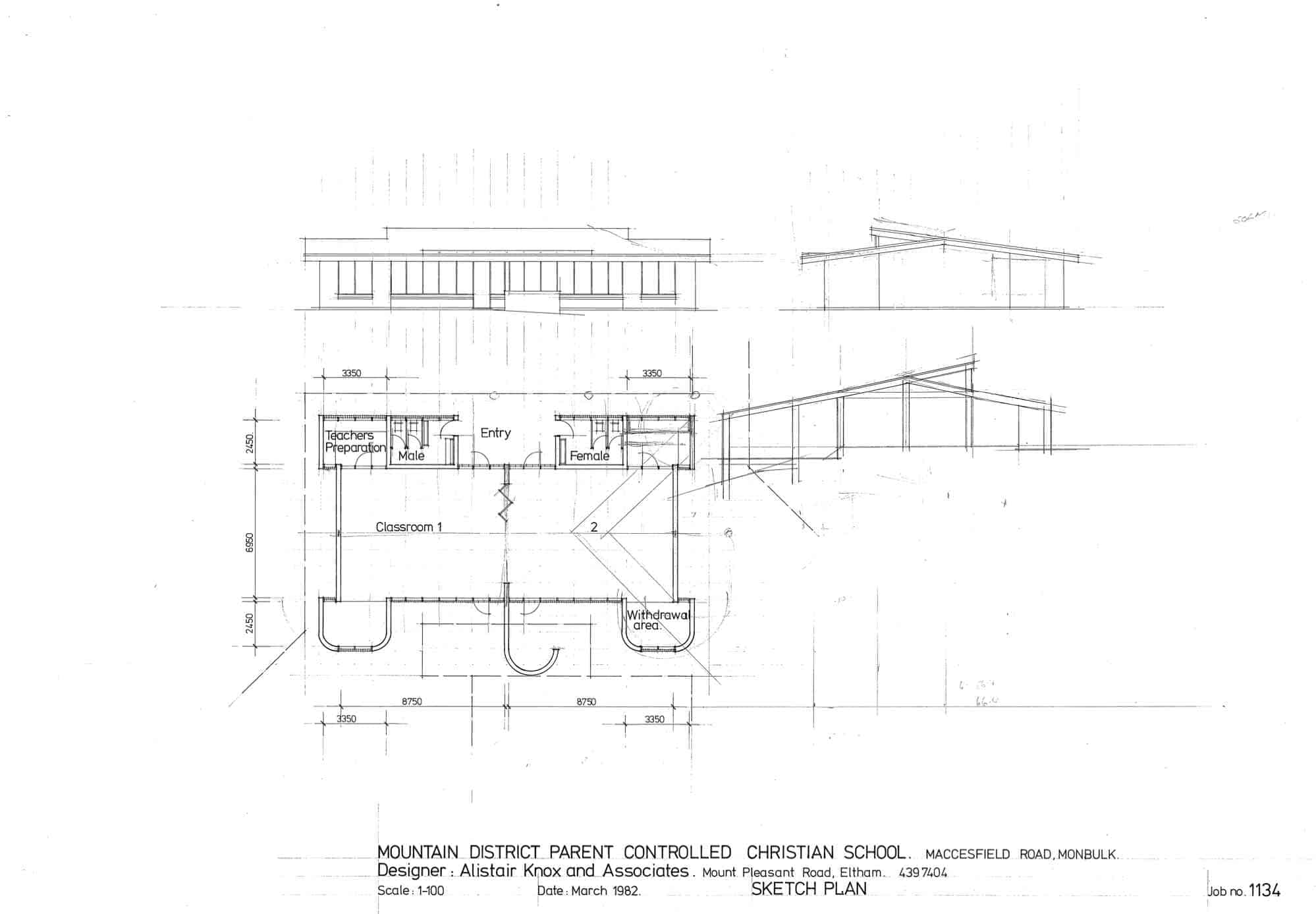 Mountain District Parent Controlled Christian School, 9: sketch plan