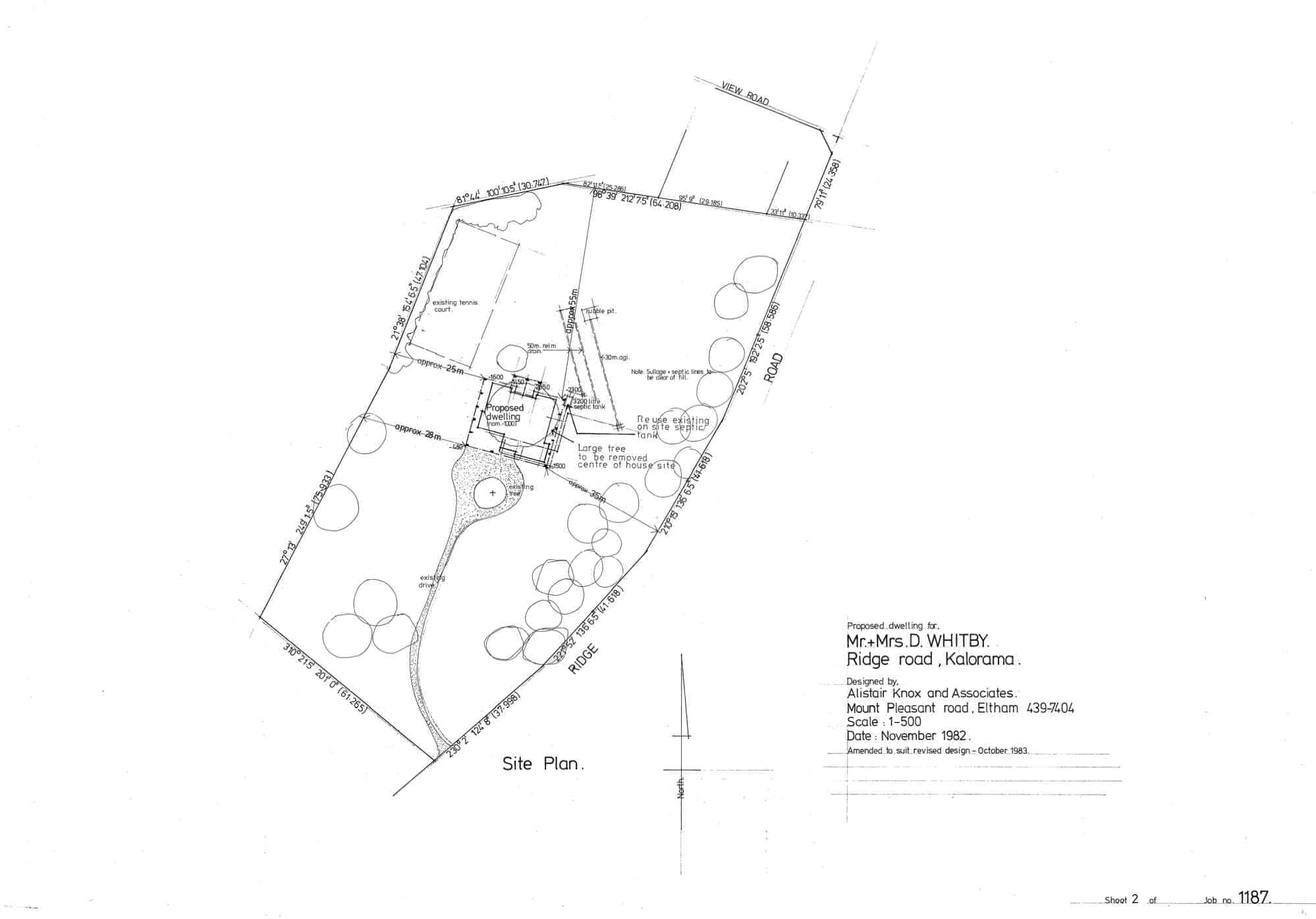 Whitby, 20: site plan