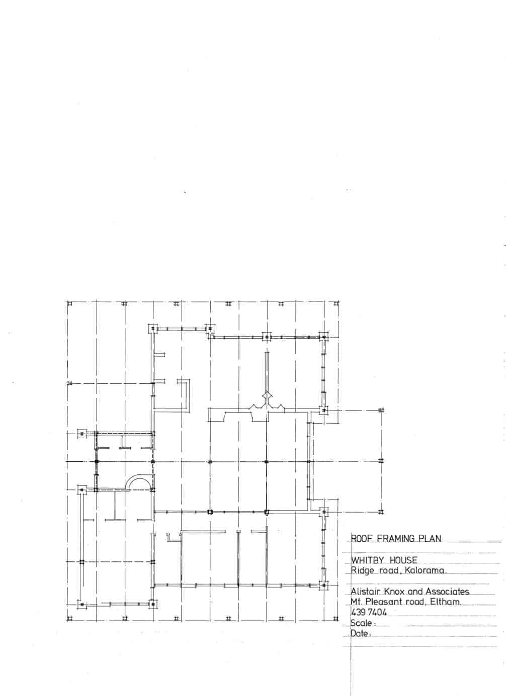 Whitby, 21: roof framing plan