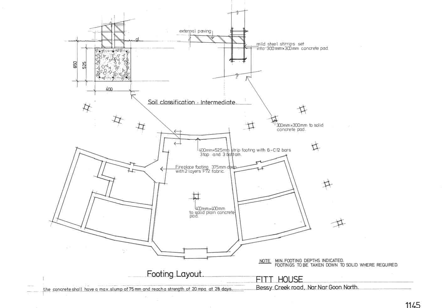 Fitt, 2: footing layout