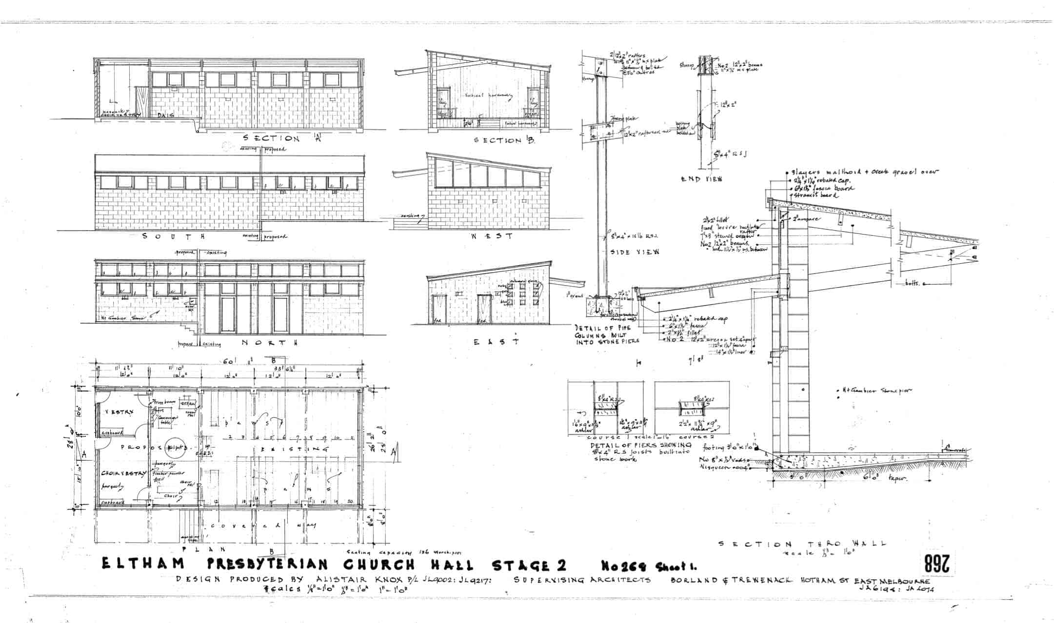 Eltham Presbyterian Church, 1: plan