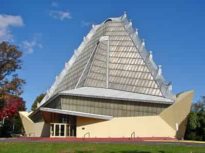Beth Sholom Synagogue, Wright's only synagogue design, Elkins Park, Pennsylvania (1954)