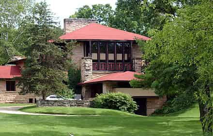 Hillside Home School, Taliesin, Spring Green, Wisconsin (1902)