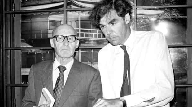 Kenneth Gee (left) and Professor David Armstrong, pictured at a press conference for The Friends Of Vietnam at the Rex ..
