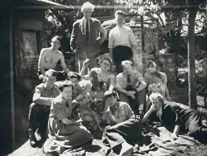 Family and friends at Open Country, c.1951